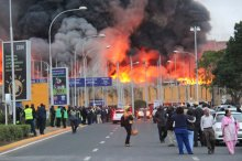 Nairobi airport closes as the fire rages