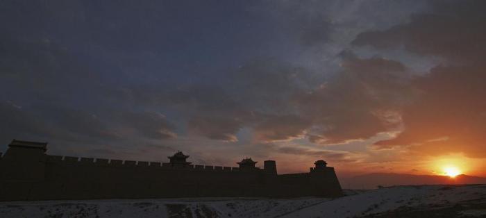 The Jiayuguan Pass of Great Wall In Gansu Province