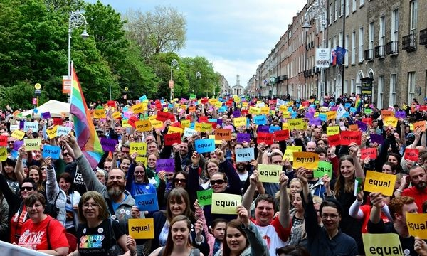 Rally in support of same-sex marriage in Dublin